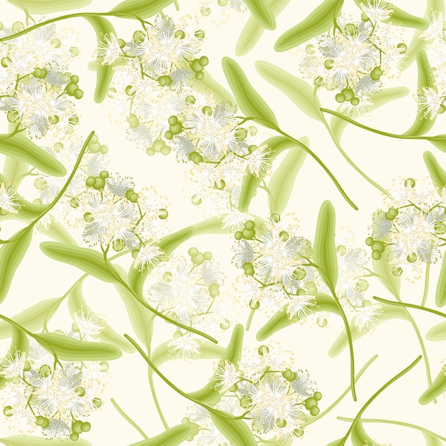 Linden seamless background Free Vector
