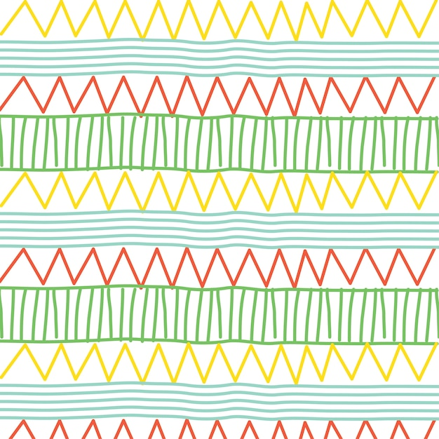line and zigzag pattern Premium Vector