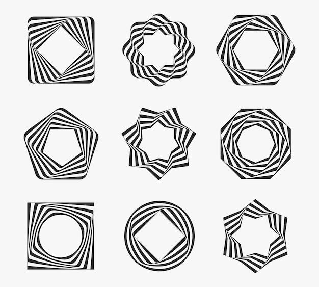 Set di cornici line art Vettore gratuito