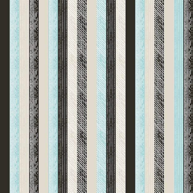 Line art pattern with engraving style Premium Vector