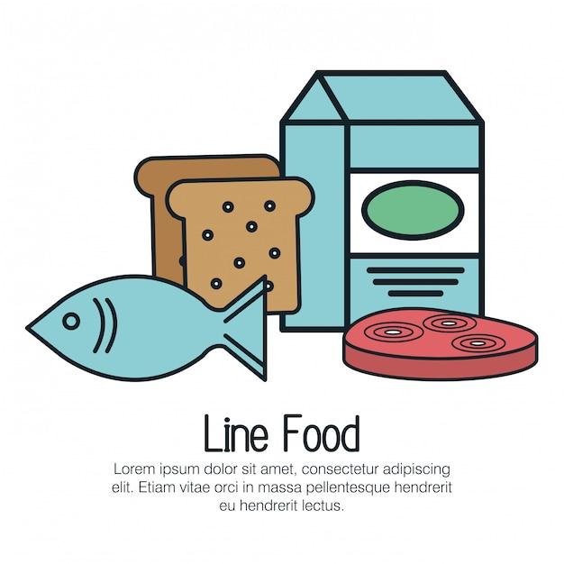 Line delicious food isolated icon Premium Vector
