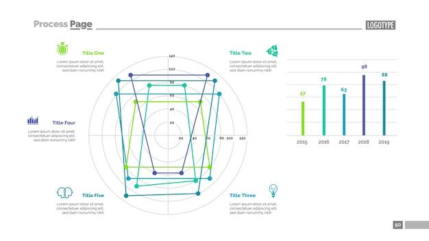 5要素テンプレートによる線図 無料ベクター