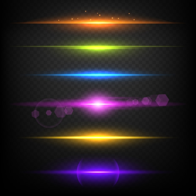 Line glow borders. neon light illuminated linear burst template Premium Vector