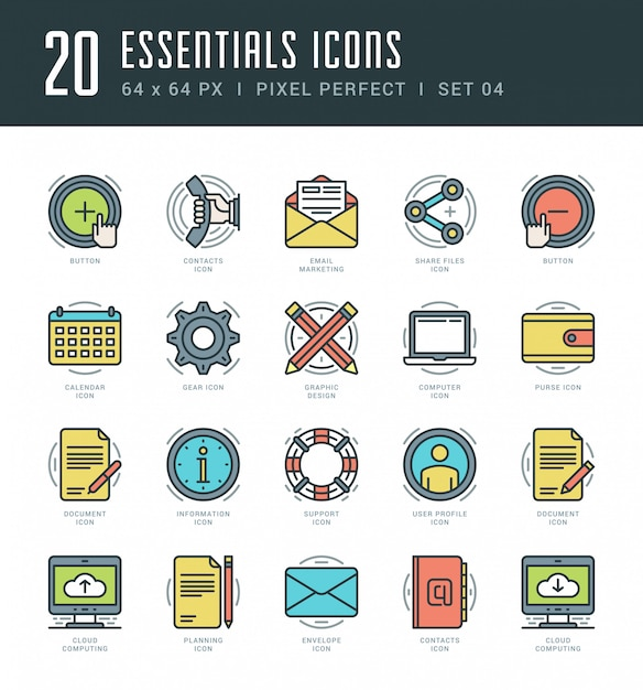 Line icons set trendy modern flat thin linear stroke vector essentials objects concept. Premium Vector