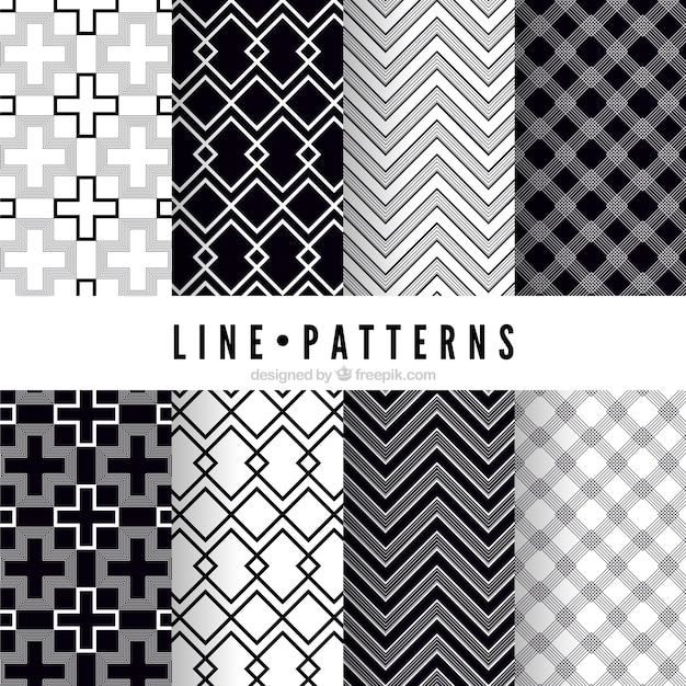 Line Patterns Pack Vector Free Download Delectable Line Pattern Vector