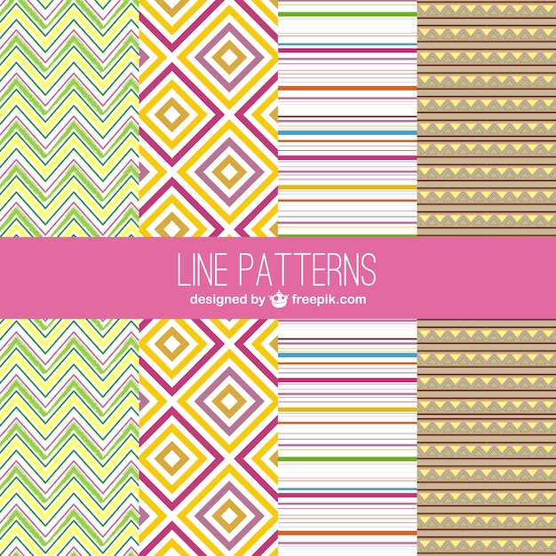 Line Patterns Vector Free Download