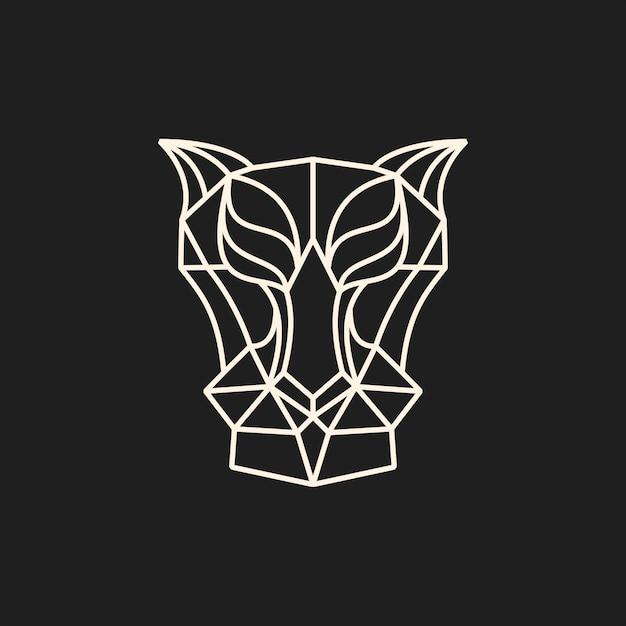 Line predator head vector illustration Premium Vector