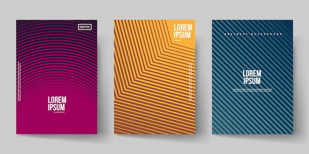 Line shape background cover template Premium Vector