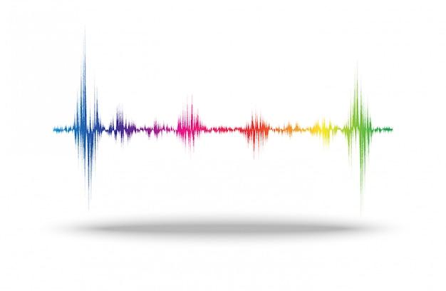 Line soundwave abstract Premium Vector