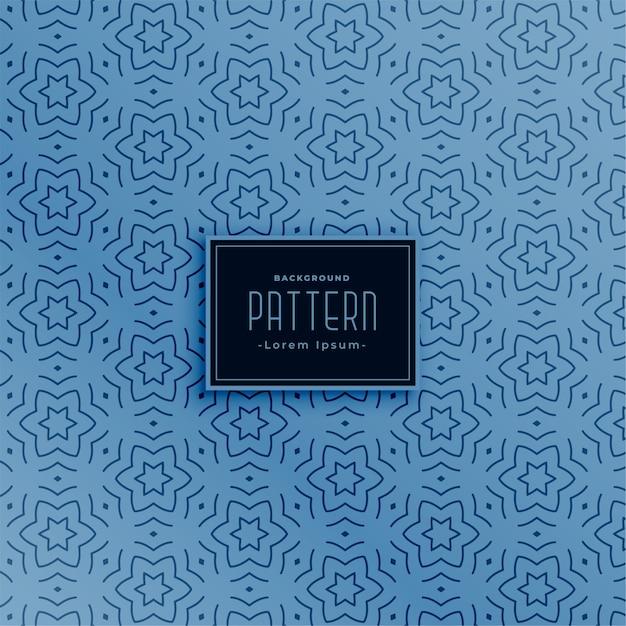 ラインスター形抽象的な青いシームレスパターン 無料ベクター