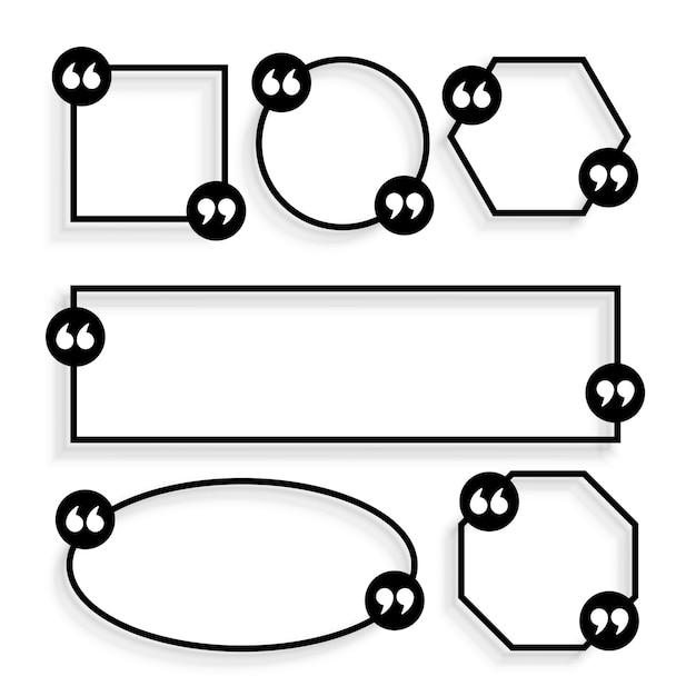 Disegno del modello di citazioni geometriche stile linea Vettore gratuito
