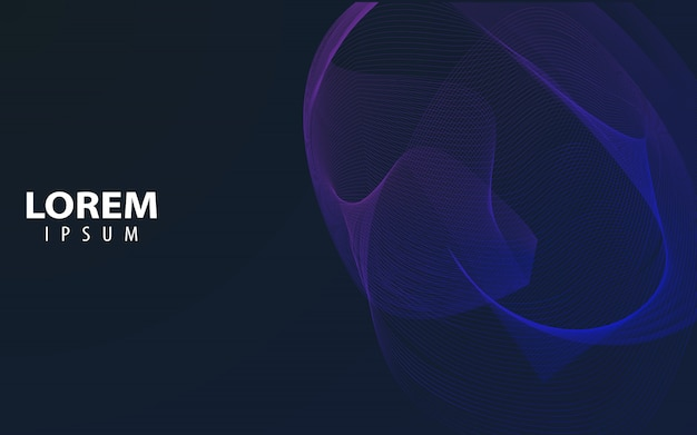 Line wave abstract design vector graphic background Premium Vector