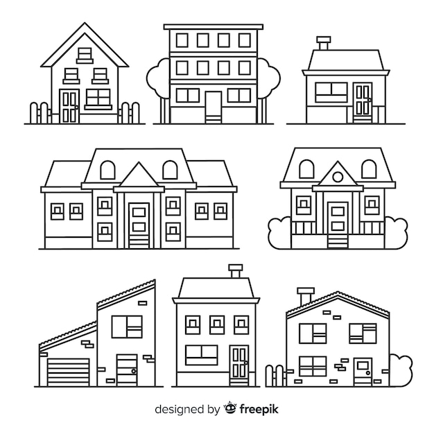 Lineal housing collectio Free Vector