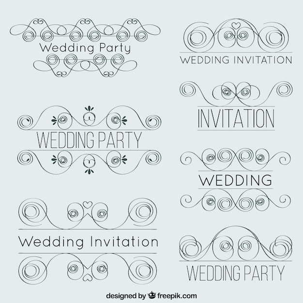 Lineal wedding decoration elements vector free download lineal wedding decoration elements free vector junglespirit Choice Image