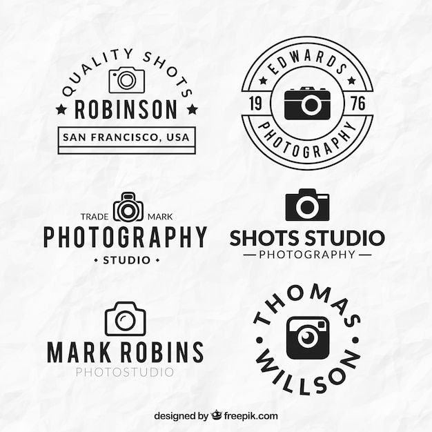 linear flat cameras logos vector free download