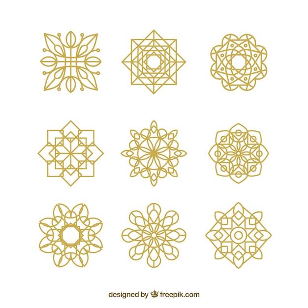 Linear mandala background Free Vector