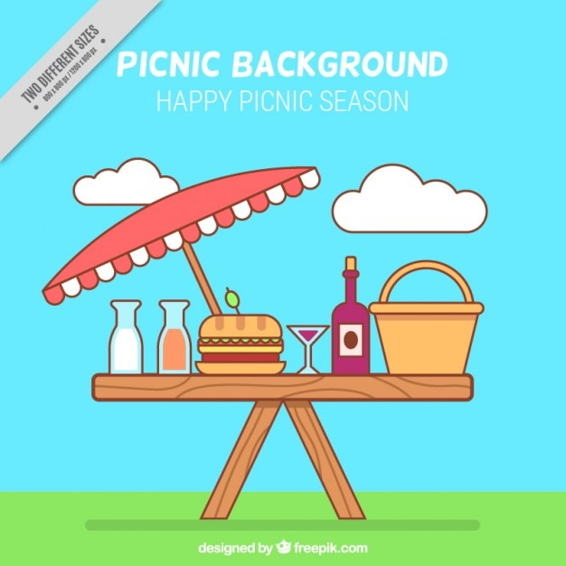 Linear picnic background