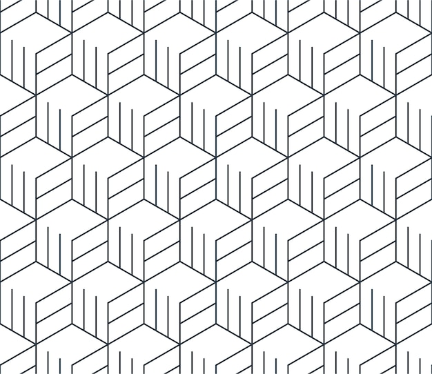 Linear seamless pattern, thin lines. subtle geometric background Premium Vector
