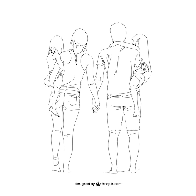 Line Art Editor : Lineart family vector free download