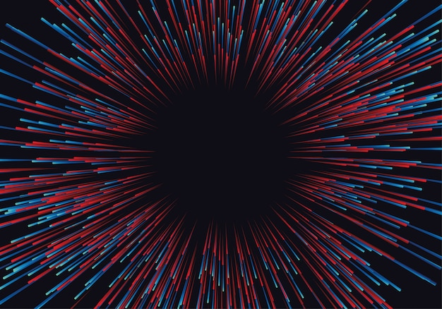 Lines composed of glowing backgrounds, abstract data flow Premium Vector