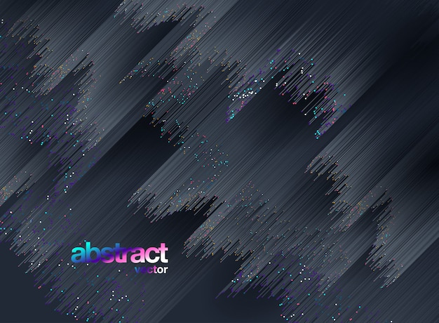 Lines composed of glowing backgrounds, abstract vector background Premium Vector