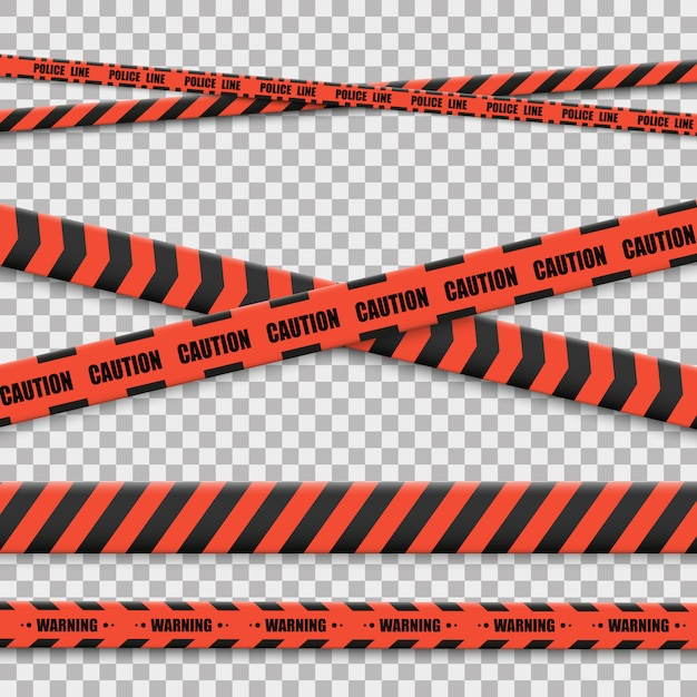 Lines isolated. warning tapes. caution. danger signs. Premium Vector