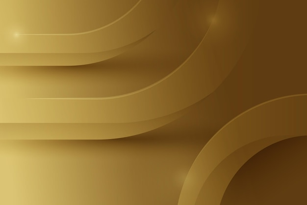 Lines with sparkles gold luxury background Free Vector