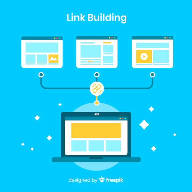 Link building background Free Vector