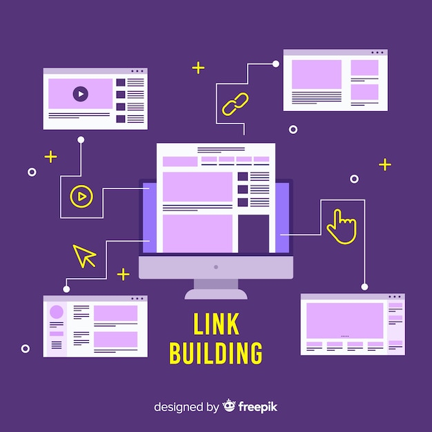 Link building concept Free Vector