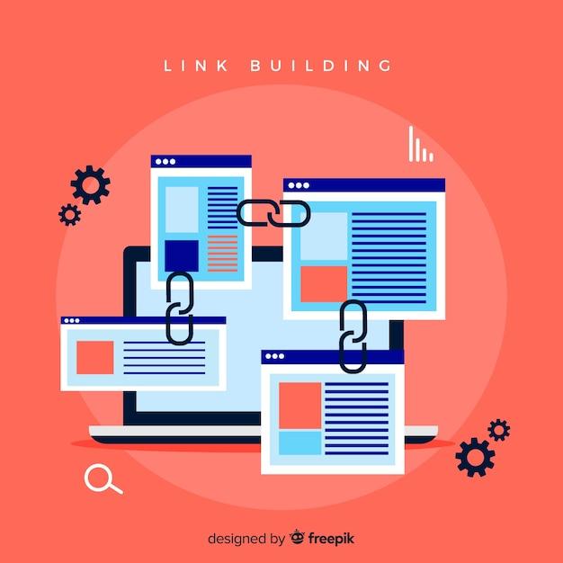 Link building concept Premium Vector
