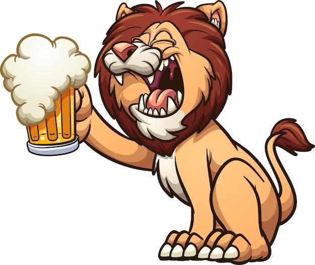 Lion beer Premium Vector