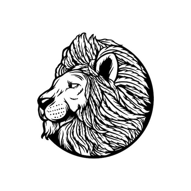 Lion cannabis leaf Premium векторы