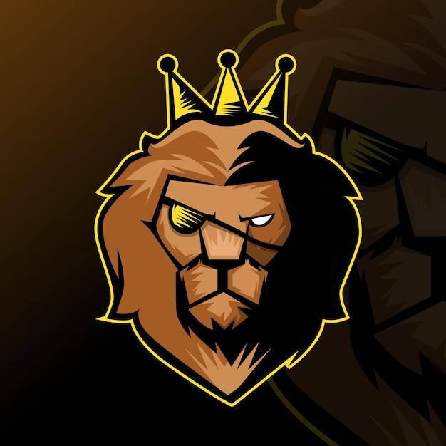 Lion esport logo Free Vector