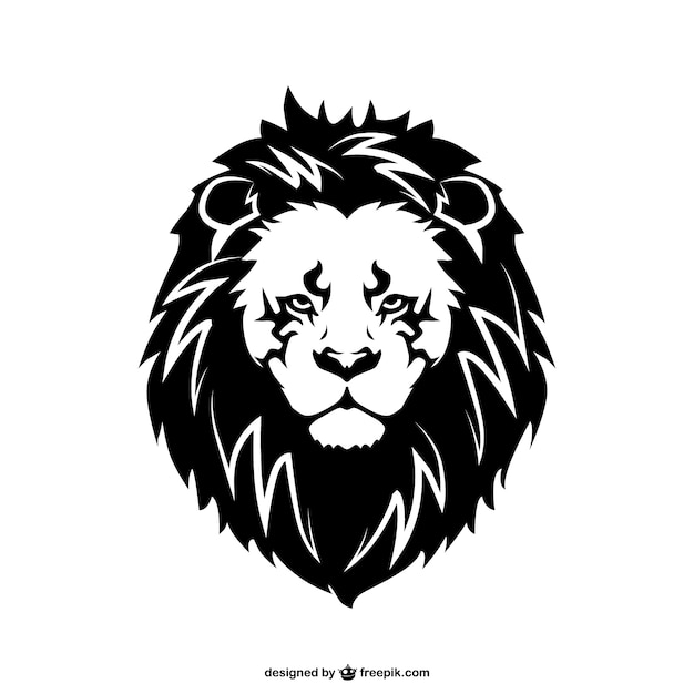 dd6ac69fc Lion face tattoo Vector | Free Download