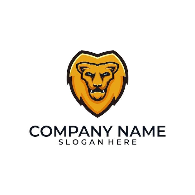 Lion head illustration vector template Premium Vector