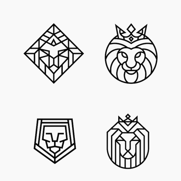 Premium Vector Lion Head Line Outline Monoline Logo Template The best selection of royalty free lion head outline vector art, graphics and stock illustrations. https www freepik com profile preagreement getstarted 2307215