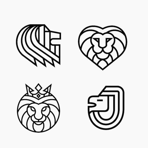 Premium Vector Lion Head Line Outline Monoline Logo Template Clip art is a great way to help illustrate your diagrams and. https www freepik com profile preagreement getstarted 2307216