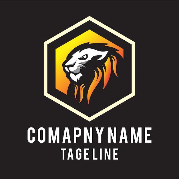 Lion head logo Premium Vector