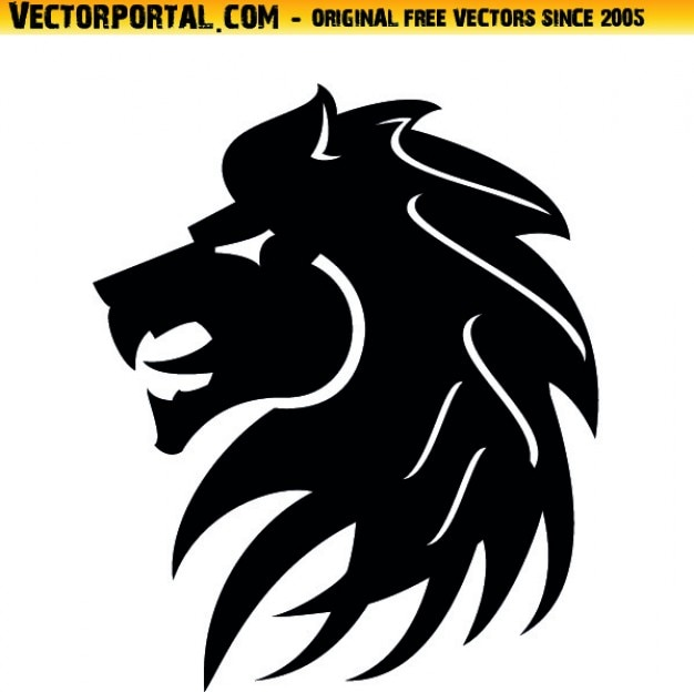 lion head tribal style icon vector vector | free download