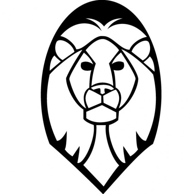 lion head vector clip art vector free download rh freepik com roaring lion face clipart lion face clipart black and white