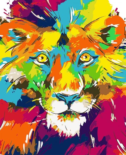 Lion illustration Premium Vector