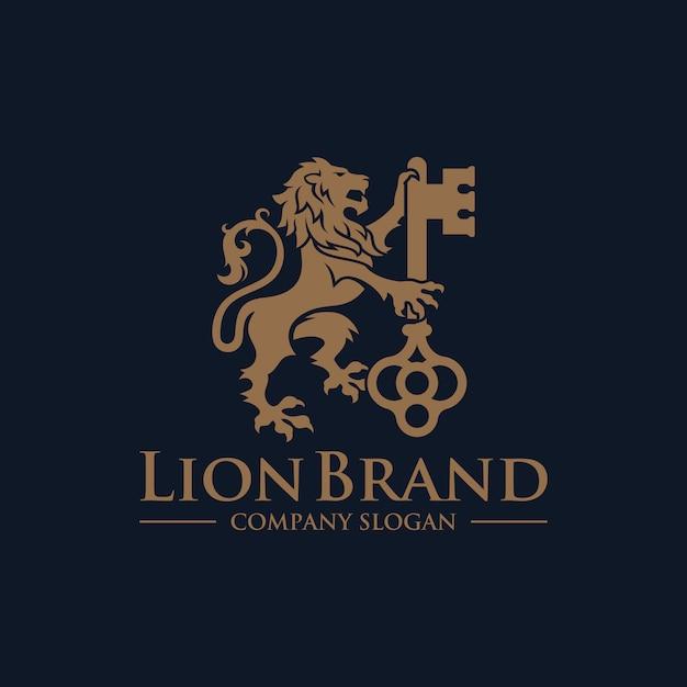 Lion key logo роскошный дизайн вектор фондовой Premium векторы