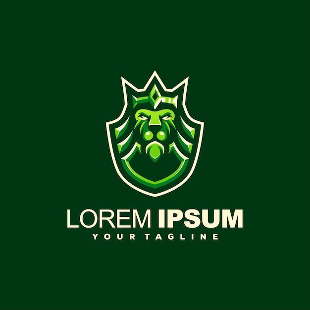 ライオンキングの王冠ロゴデザイン Premiumベクター