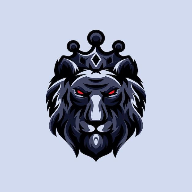 Король лев дизайн логотипа Premium векторы