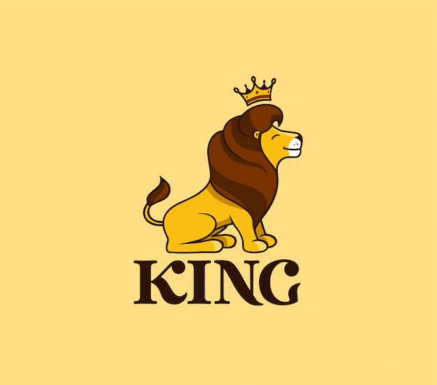 Premium Vector The Lion King Smile With Text Crown Lion king cartoon 1 of 5. https www freepik com profile preagreement getstarted 8005737