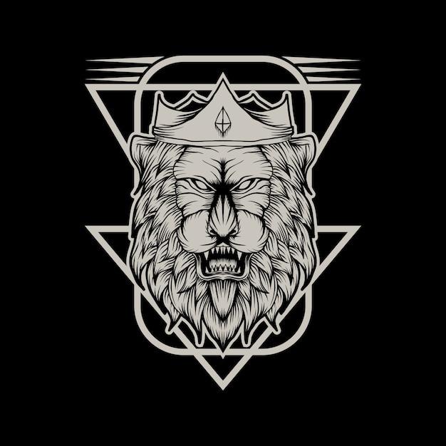 Lion king vector illustration Premium Vector