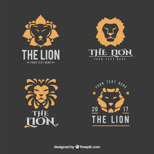 Lion logo collection