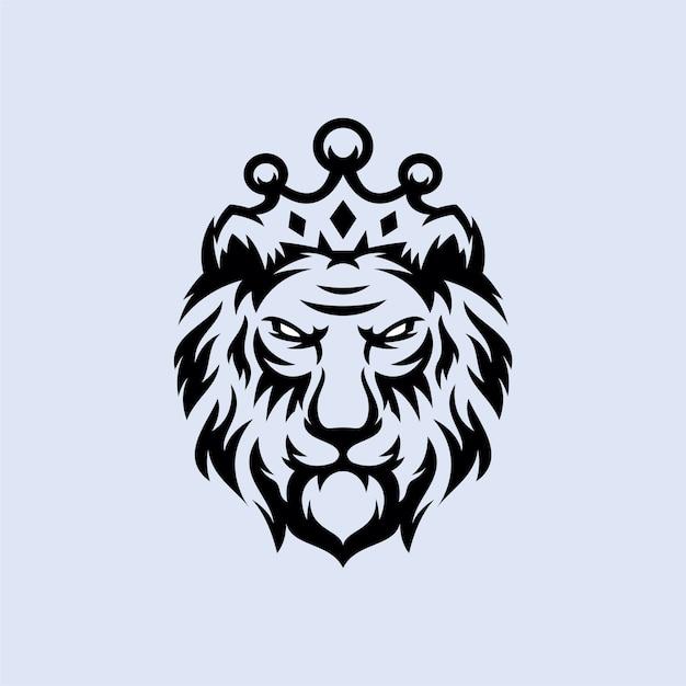 Лев логотип Premium векторы