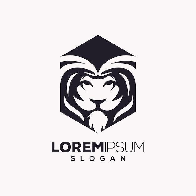 ライオンのロゴデザイン Premiumベクター