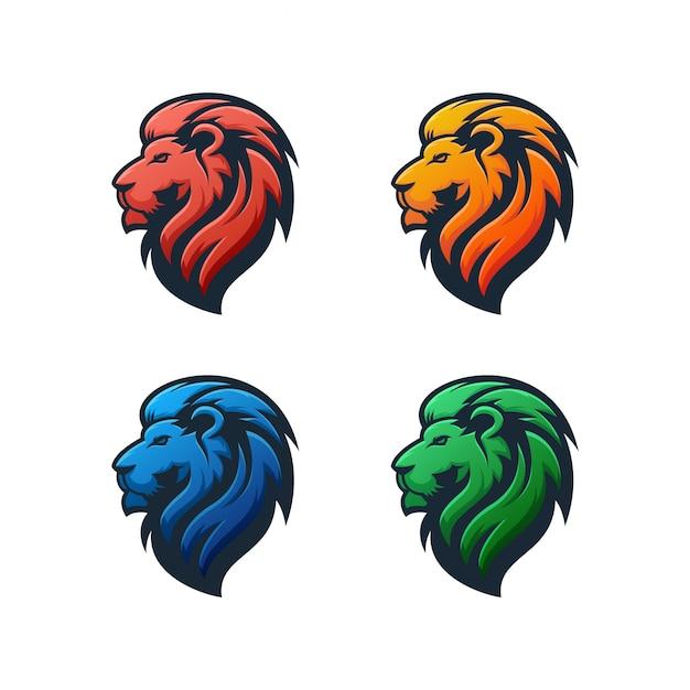 Lion logo illustration Premium Vector